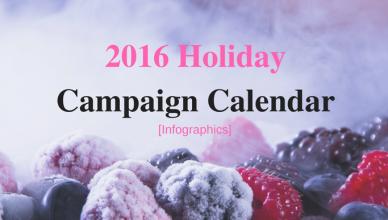 2016 Holiday Campaign Calendar