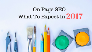 On page SEO What to expect in 2017