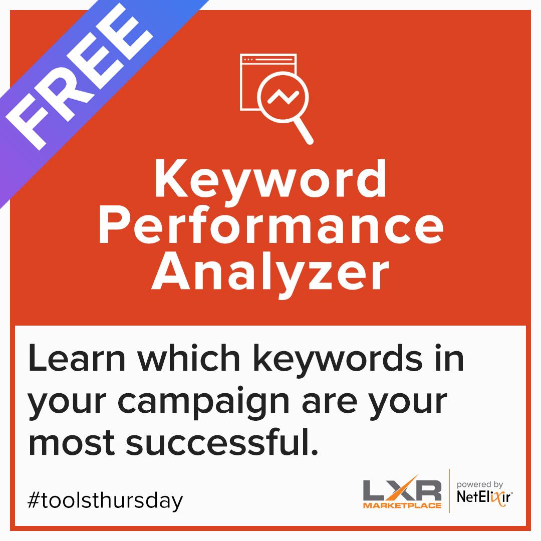 Keyword performance analyzer