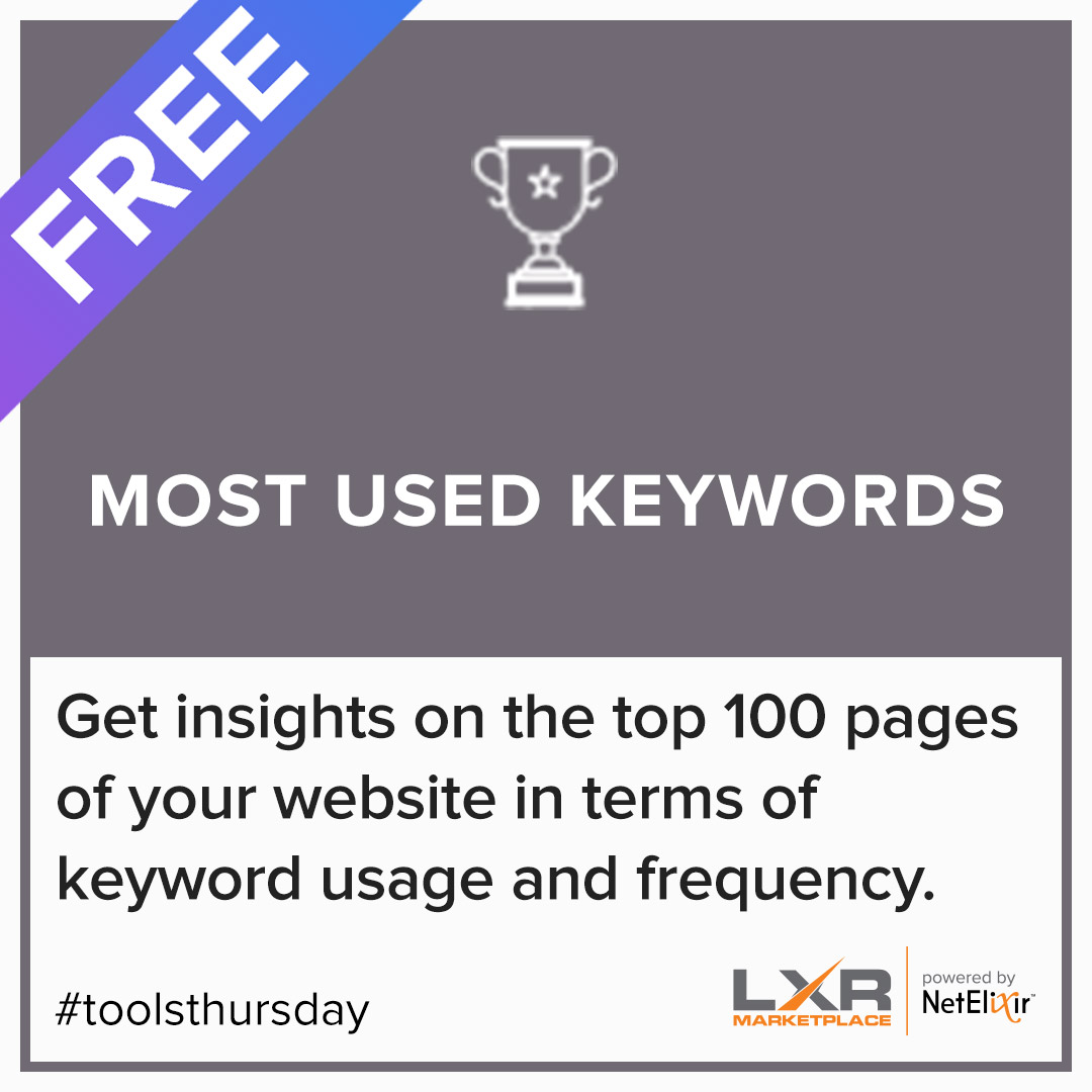 Most Used Keywords SEO content strategy tool