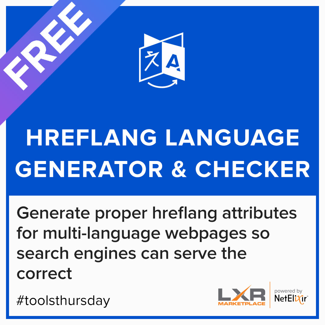 Hreflang Language Generator tool